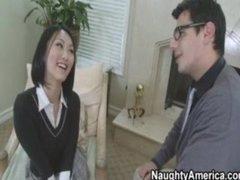 Hot Asian School Copulates Her Teacher