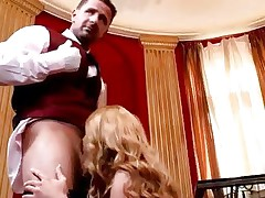 Sassy Cathy Heaven gets her moist throat slammed