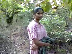 indian teenage babe fucking very hardly with in forest