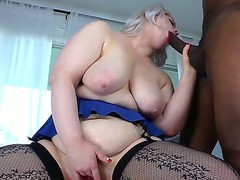 Amazing interracial scene with white busty blonde Klaudia Kelly and Sean Michaels