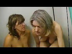 old whores showering together