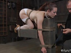 hot body bitch tied and sextoy fucked