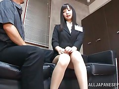 shy teacher knelt and mouth screwed