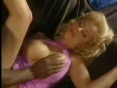 Black pecker fucking her in classic scene