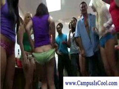 Striptease and sex on campus dorm party